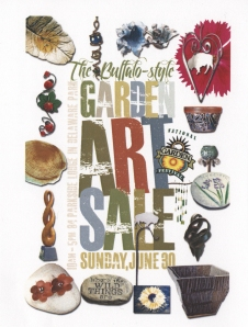 Garden Art Sale Poster