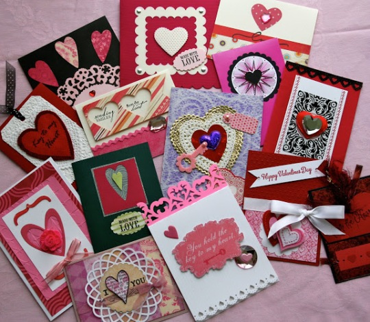 See the pink hand stitched card, upper right? Yep, me again!