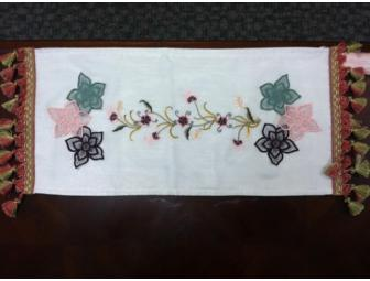 Table Runner Donated by Rochester Artisan Cherie Carter Designs