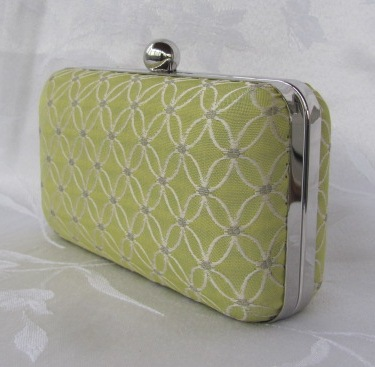 Green Apple Clamshell Clutch