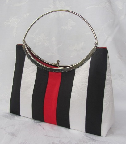 Striped Silk Dupioni Purse