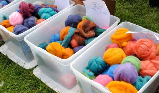 And see all the colorful and natural fibers in their various states, like this roving.