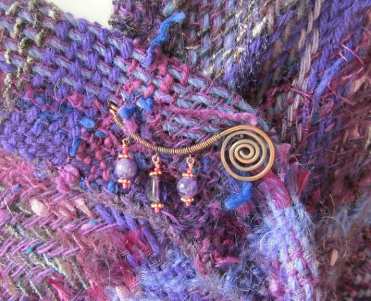 Purple Handwoven Wrap Triangular Shawl