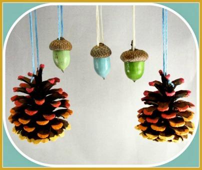 Acorn & Pine Cone Adornments