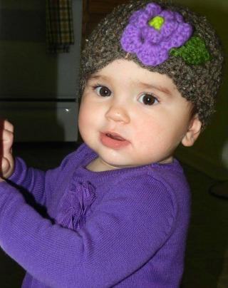 Angela MacAllister Berry Cute Hats Purple Flower Hat