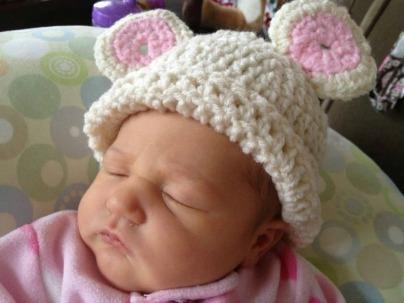 Angela MacAllister Berry Cute Hats Sleeping Baby