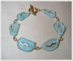 Beachglass-Bracelet