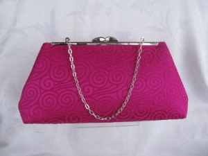 Juana Morreale Fuschia Brocade Clutch