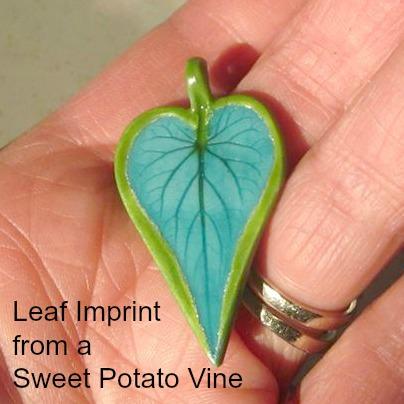 Lori Prince Leaf Impression Polymer Clay Pendant