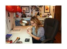 Lori Prince Working in Studio W
