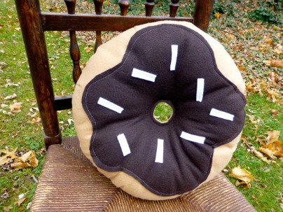 Chocolate Donut Plush, by Lisa Cupery of ArtSnack.
