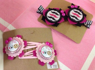 Hair Clips by Melissa Griffo of Lovely Lyla Jean.