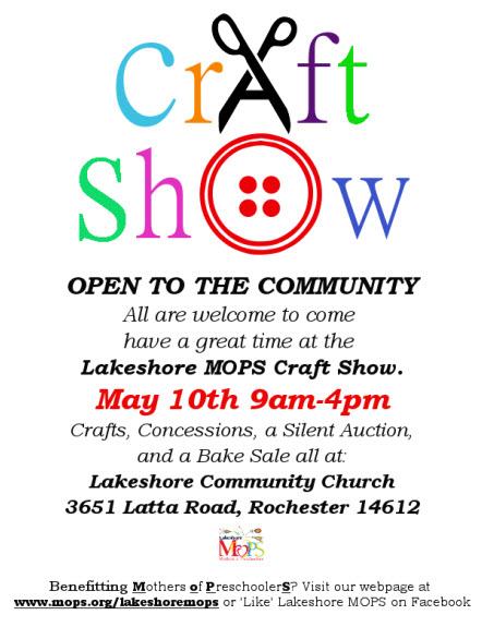 MOPS Craft Show Flyer 2014