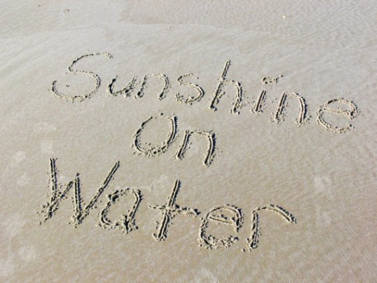 Sunshine on Water Sand