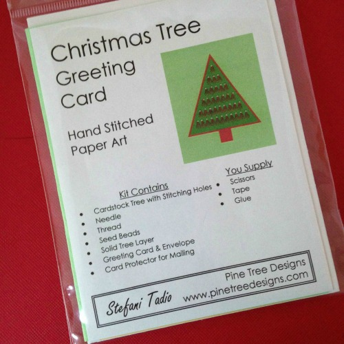 Christmas Tree Card Kit