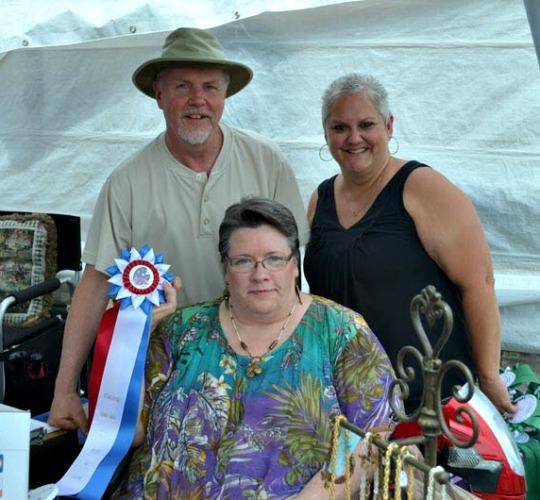 2013 Spencerport Canal Days, Bob Holtz, Karen Holtz with festival organizer Wendy Dandria.