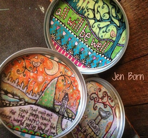Jen will be selling her coasters and other small items on First Friday.