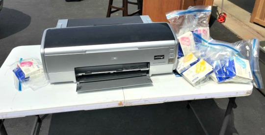 Epson 2400 Photo Printer with Lots of Ink Cartridges