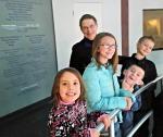 My grandkids and me at Niagara Falls Aquarium.